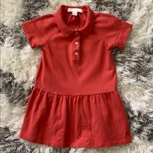 Burberry Toddler Knit Polo Dress Sz 18mths